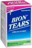 Bion Tears Lubricant Eye Drops Single Use Vials - 28 ea