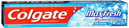 Colgate MaxFresh Whitening Toothpaste with Mini Breath Strips Cool Mint - 6 oz
