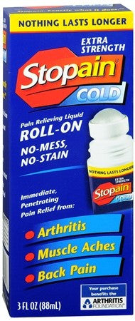 Stopain Cold Pain Relieving Liquid Roll-On Extra Strength - 3 oz