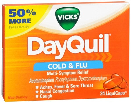 Vicks DayQuil Cold & Flu LiquiCaps - 24 caps