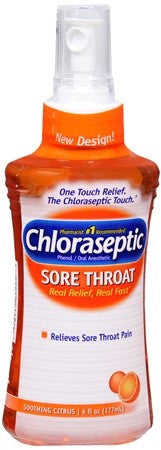 Chloraseptic Sore Throat Spray Soothing Citrus - 6 oz