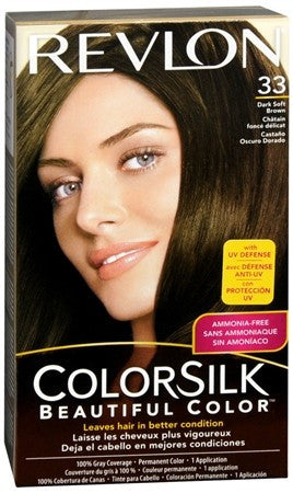 Revlon ColorSilk Hair Color 33 Dark Soft Brown - 1 ea