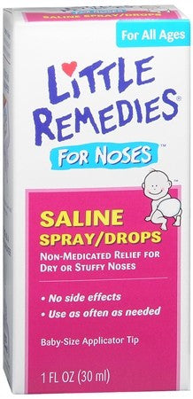 Little Remedies For Noses Saline Spray/Drops - 1 oz