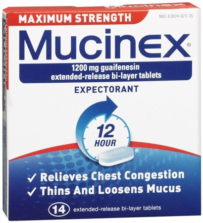 Mucinex Expectorant Extended-Release Bi-Layer Tablets Maximum Strength - 14 tabs