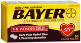 Bayer Safety Coated Aspirin 325 mg Tablets - 50 tabs
