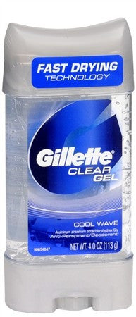 Gillette Anti-Perspirant Deodorant Clear Gel Cool Wave - 3.8 oz