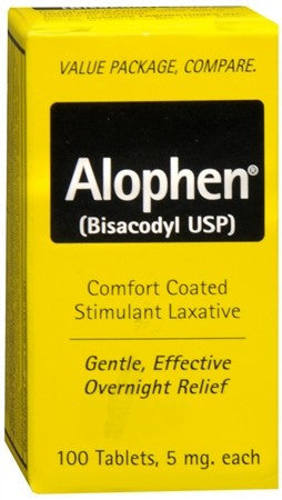 Alophen Stimulant Laxative Tablets - 100 tabs