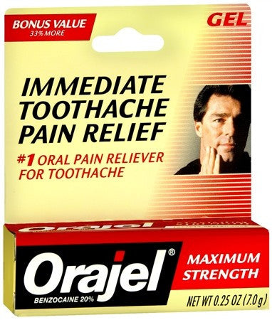 Orajel Instant Pain Relief Gel for Toothache Maximum Strength - 0.25 oz