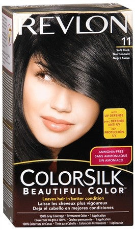 Revlon ColorSilk Hair Color 11 Soft Black - 1 ea