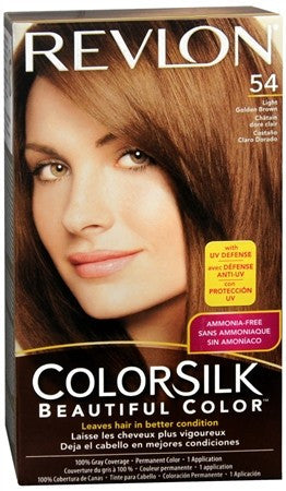 Revlon ColorSilk Beautiful Color Permanent Hair Color 54 Light Golden Brown - 1 ea