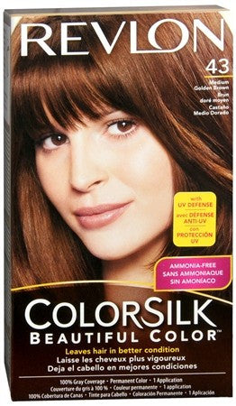 Revlon ColorSilk Beautiful Color Permanent Hair Color 43 Medium Golden Brown - 1 ea