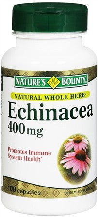 Nature's Bounty Echinacea 400 mg Capsules - 100 caps
