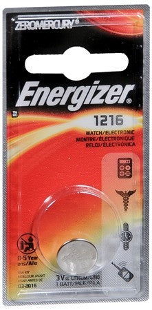 Energizer Watch/Electronic Battery 1216 - 1 ea