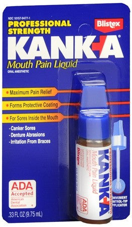 Kank-A Mouth Pain Liquid Professional Strength - 0.33 oz
