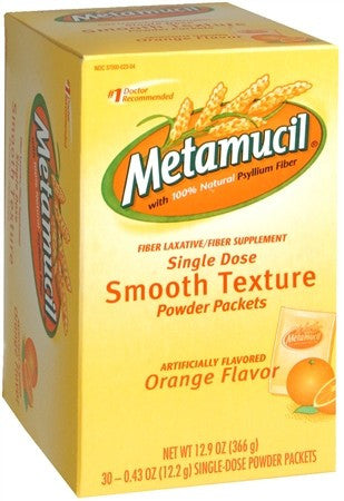 Metamucil Smooth Texture Orange Single Dose Packets - 30 ea