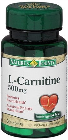 Nature's Bounty L-Carnitine 500 mg Caplets - 30 tabs