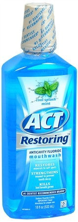 ACT Restoring Anticavity Fluoride Mouthwash Cool Mint - 18 oz