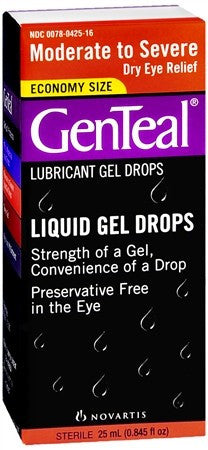 GenTeal Lubricant Gel Drops Moderate to Severe Dry Eye - 25 ml