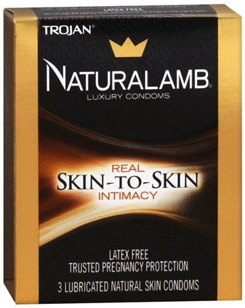 Naturalamb Natural Skin Lubricated Luxury Condoms - 3 ea