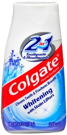 Colgate 2 in 1 Whitening Toothpaste & Mouthwash Liquid Gel - 4.6 oz