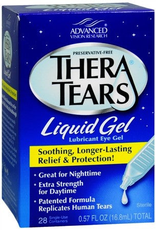 TheraTears Liquid Gel Lubricant Eye Gel Single-Use Containers - 28 ea