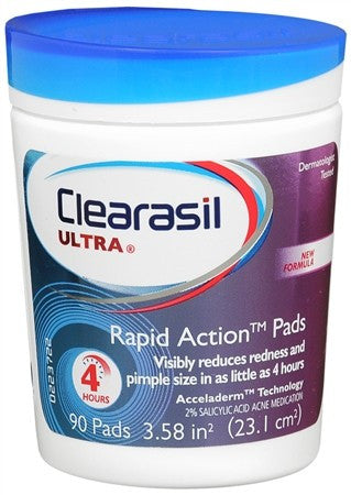 Clearasil Ultra Rapid Action Pads - 90 ea
