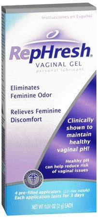 RepHresh Vaginal Gel Personal Lubricant Pre-Filled Applicators - 4 ea