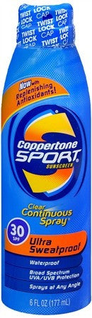 Coppertone Sport Clear Continuous Spray Sunscreen SPF 30 - 6 oz