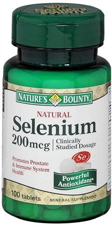 Nature's Bounty Selenium 200 mcg Tablets Natural - 100 tabs