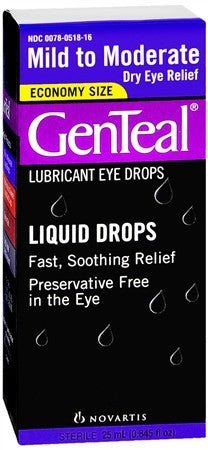 GenTeal Lubricant Eye Drops Moderate Dry Eye Relief - 25 ml
