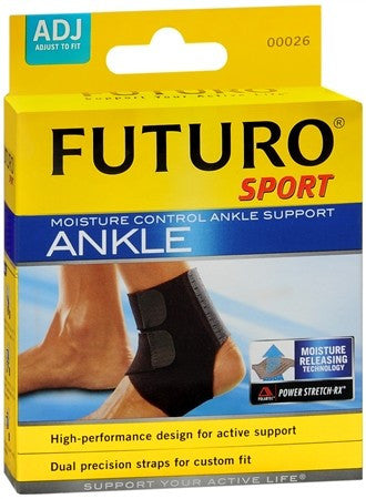 FUTURO Sport Moisture Control Ankle Support Adjust To Fit - 1 ea