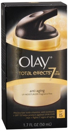 Olay Total Effects 7-in-1 Anti-Aging UV Moisturizer SPF 15 Fragrance-Free - 1.7 oz