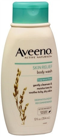 AVEENO Active Naturals Skin Relief Body Wash Fragrance Free - 12 oz