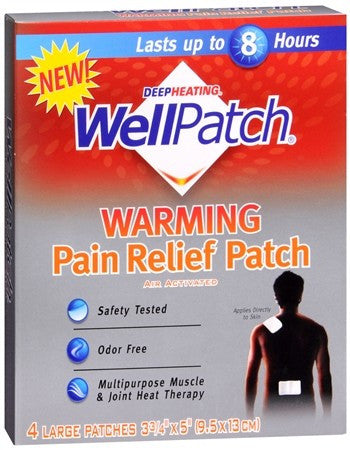 WellPatch Warming Pain Relief Patch - 4 ea