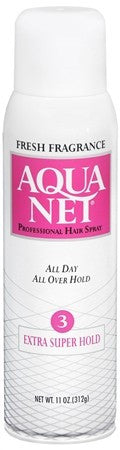 Aqua Net Professional Hair Spray Extra Super Hold Fresh Fragrance - 11 oz