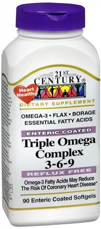 21st Century Enteric Coated Triple Omega Complex 3-6-9 Softgels - 90 caps