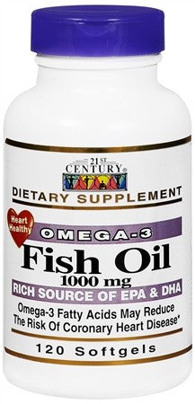 21st Century Fish Oil 1000 mg Softgels - 120 caps