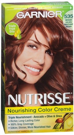 Garnier Nutrisse Nourishing Color Creme Permanent Haircolor 535 Chocolate Caramel (Medium Golden Mahogany Brown) - 1 ea