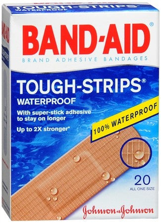 BAND-AID Tough Strips Waterproof Bandages - 20 ea