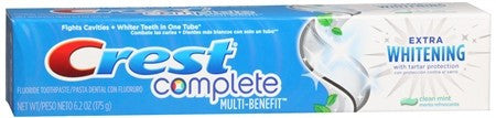 Crest Complete Toothpaste Extra Whitening with Tartar Protection Clean Mint - 6.2 oz