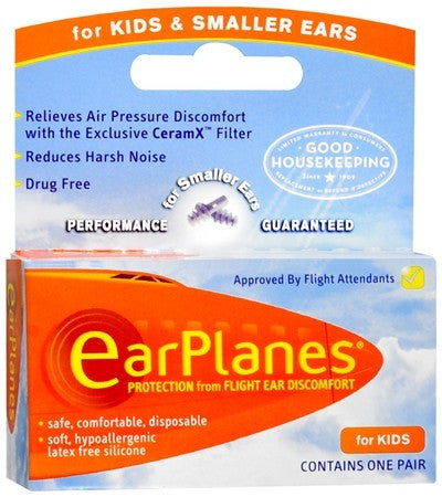 EarPlanes Ear Plugs Kid's - 1 pr