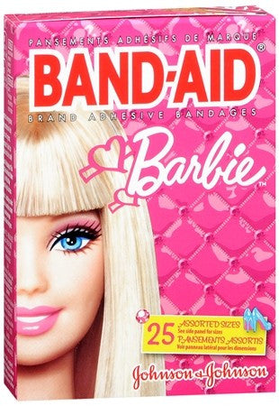 BAND-AID Bandages Barbie Assorted Sizes - 20 ea