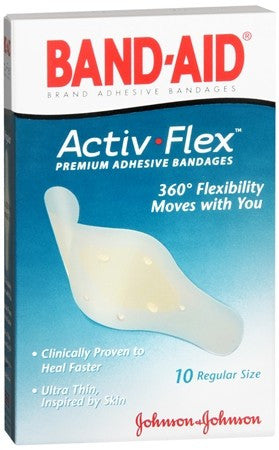 BAND-AID Activ-Flex Bandages Regular - 10 ea