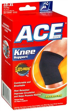 Ace Elasto-Preene Knee Support Black - 1 ea