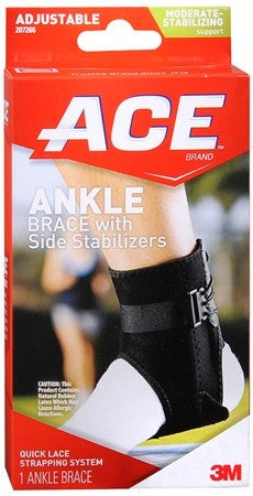 ACE Ankle Brace with Side Stabilizers Adjustable - 1 ea