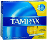 Tampax Tampons with Cardboard Applicators Regular Absorbency - 40 ea
