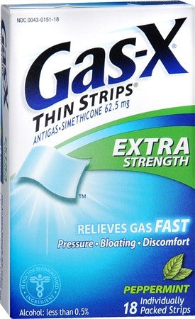 Gas-X Thin Strips Extra Strength Peppermint - 18 ea