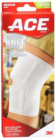 ACE Knitted Knee Brace with Side Stabilizers Medium - 1 ea