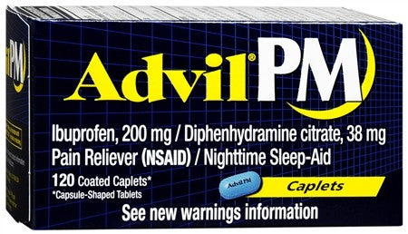 Advil PM Caplets - 120 caps