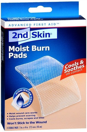 2nd Skin Moist Burn Pads 3 Inches X 4 Inches - 3 ea